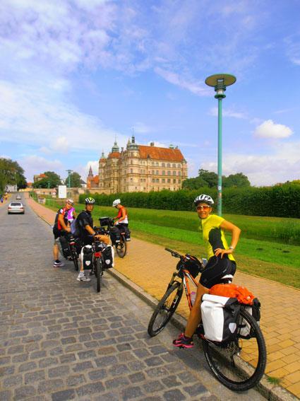 Ciclisti in Alsazia