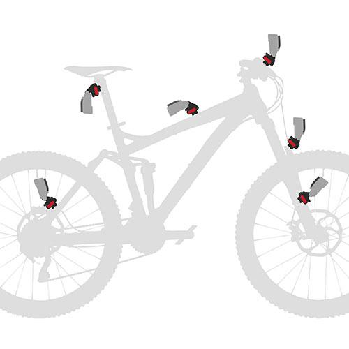 Bici con esempi di utilizzo CamOn Klickfix